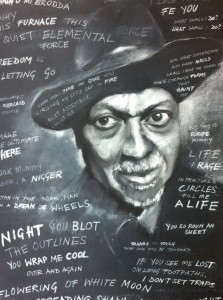 The poet James Berry 750 x 550 chalk and charcoal on paper
